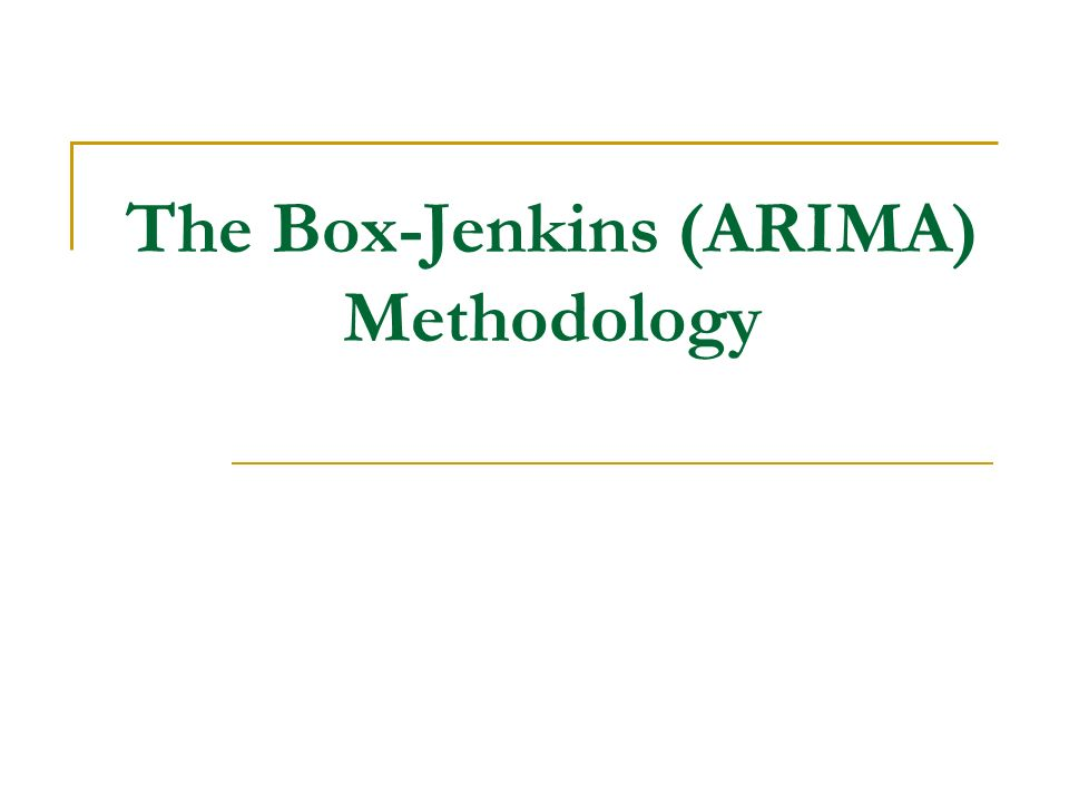 an introduction to the box jenkins method This article reviews basic concepts of box-jenkins modelling  topics are  presented: the arima model, transfer function models (assessment of relations  between time  chatfield c the analysis of time series: an introduction , fourth  edition.