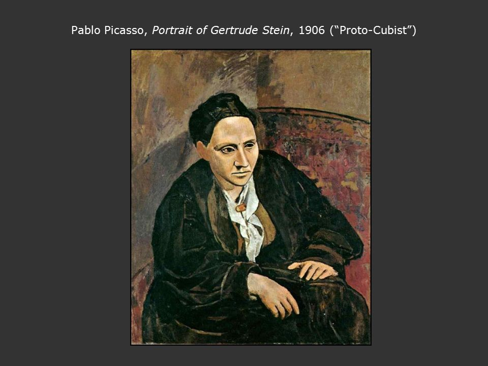 An analysis of the self portraits of gertrude stein and pablo picasso