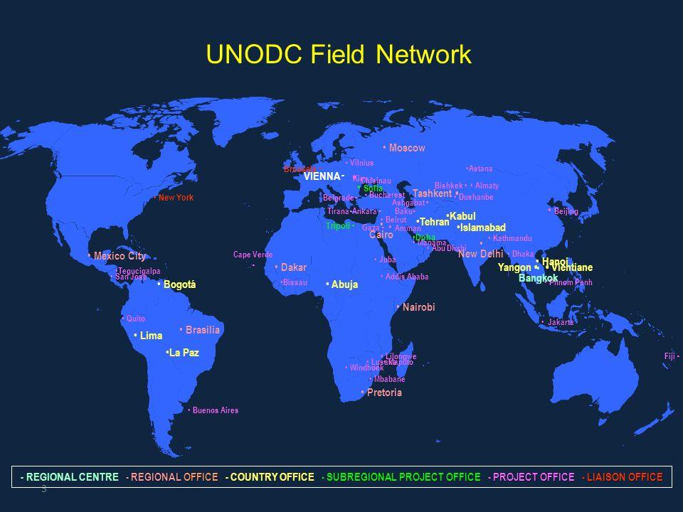 UNODC Field Network  Chisinau Moscow Amman Beijing VIENNA Sofia