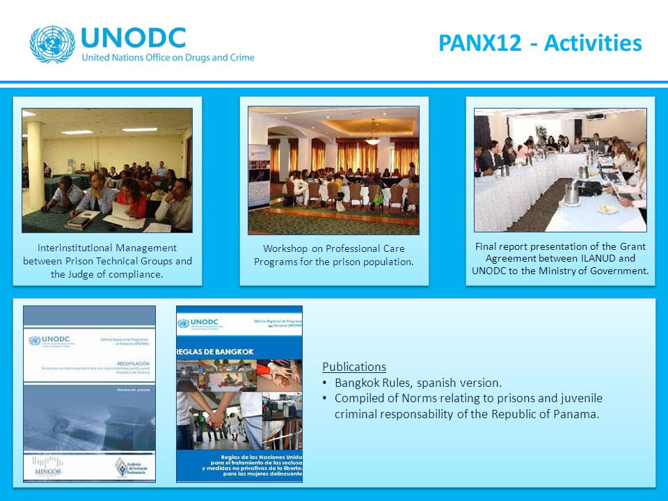PANX12 - Activities Publications Bangkok Rules, spanish version.