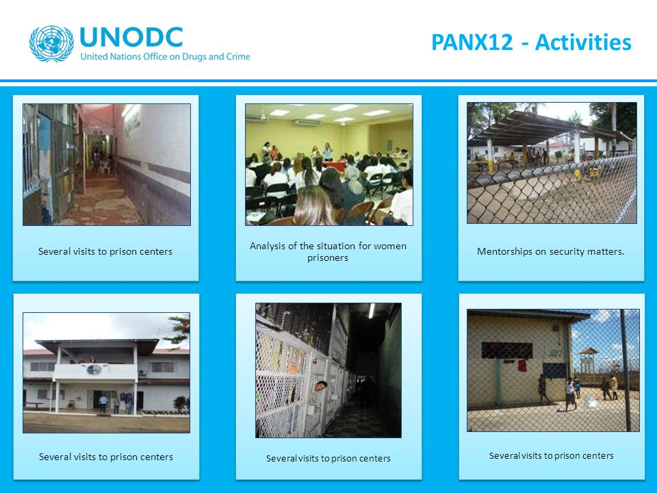 PANX12 - Activities Several visits to prison centers