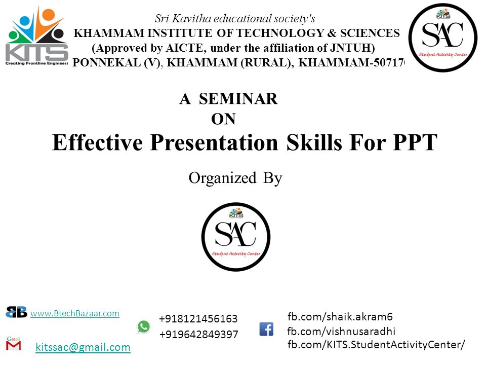 Effective Presentation Skills For Ppt - Ppt Download