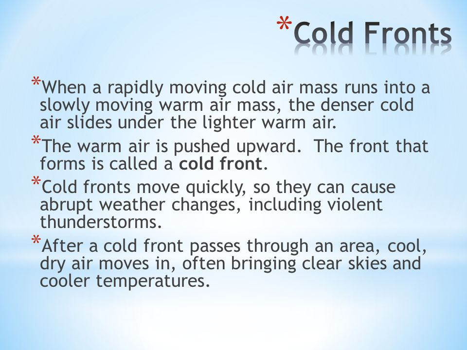 Cold Air Mass : Atmosphere ppt video online download