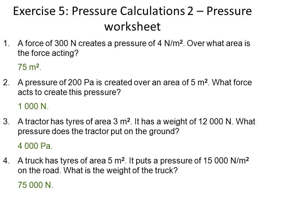 DENSITY AND PRESSURE WORKSHEET WITH ANSWERS by kunletosin246 ...
