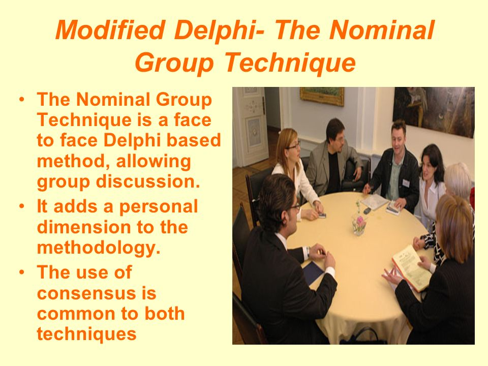 Modified Delphi- The Nominal Group Technique