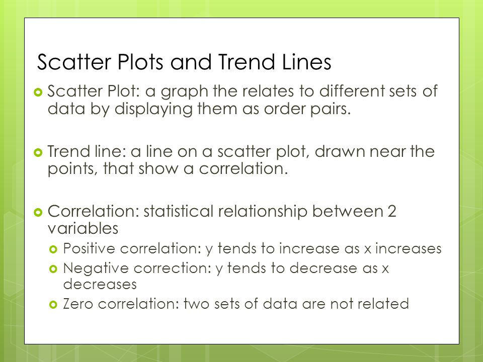 how to solve scatter plots and trend lines