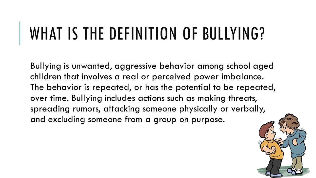 what is cyber bullying 15-04-2014 bullying is a serious problem what is a bully what are signs of bullying how does bullying hurt learn all about bullying and ways to handle it.