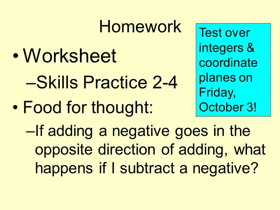 Adding Integers Section ppt video online download – Integers Practice Worksheet