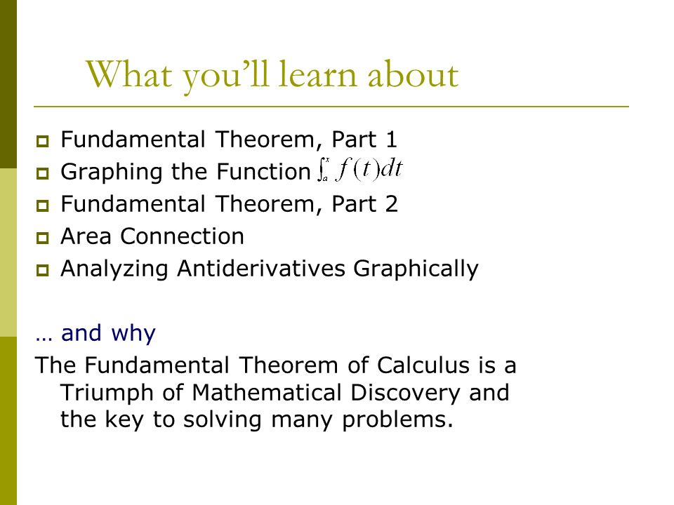 Pictures of Fundamental Theorem Of Calculus Part 1 - #rock-cafe