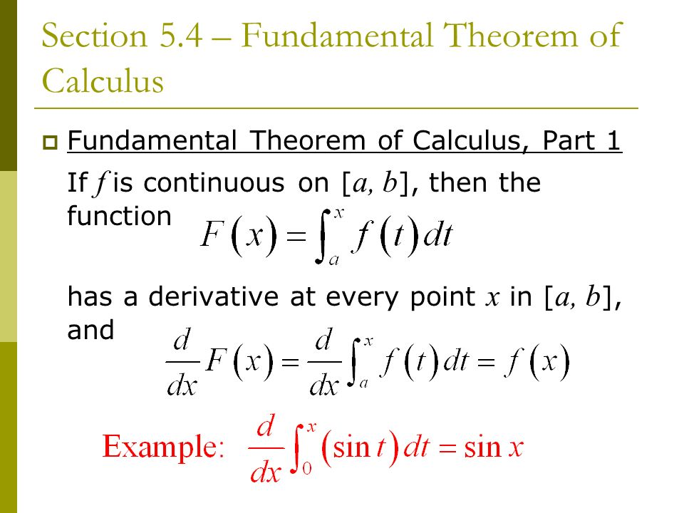 fundamental theorem of calculus and discussion Calculus questions, on tangent lines, are presented along with detailed solutions questions with answers on the second fundamental theorem of calculus  questions with detailed solutions on the second theorem of calculus are presented.