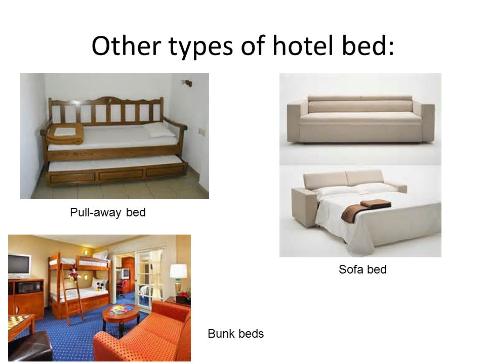 Other Types Of Hotel Bed: