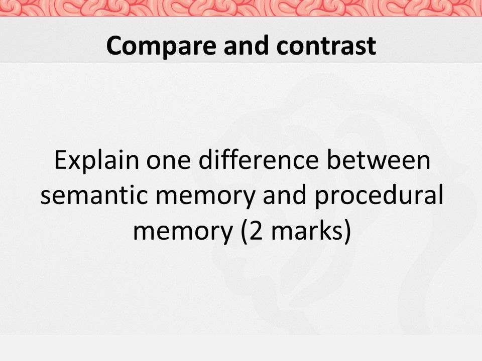 compare and contrast sensory short and long term memory theory Intro to psychology sensory memory, short-term memory, and long-term memory compare and contrast allport's trait theory with the.
