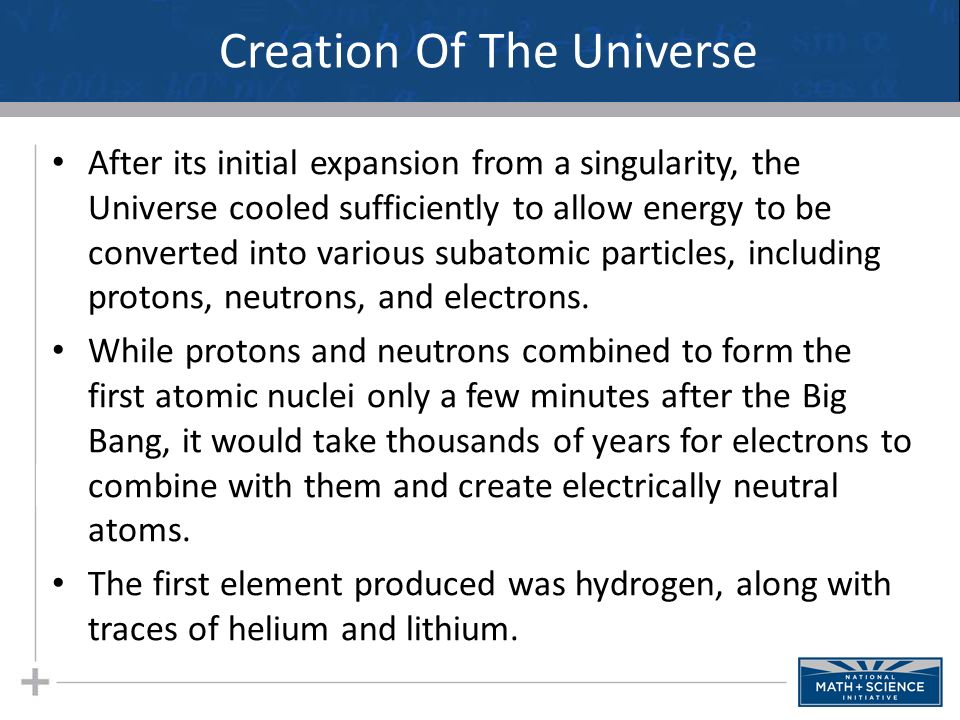 creation of the universe from various However, given different creedal tenets (eg, in hindu traditions god is usually not entirely distinct from creation, unlike in christianity and judaism), and because science has had distinct historical trajectories in other cultures, one can expect disanalogies in the relationship between science and religion in different religious traditions.