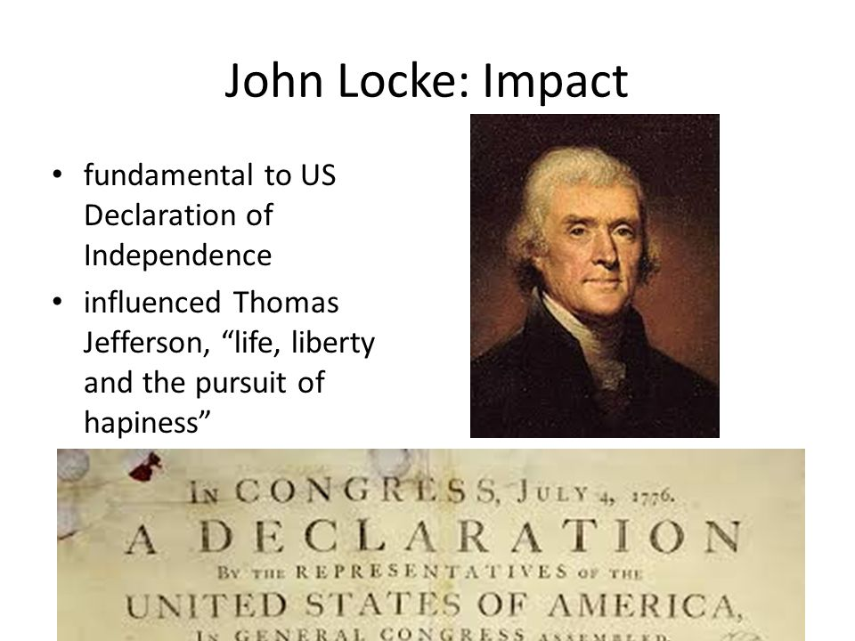 How was Thomas Jefferson influenced by Locke?