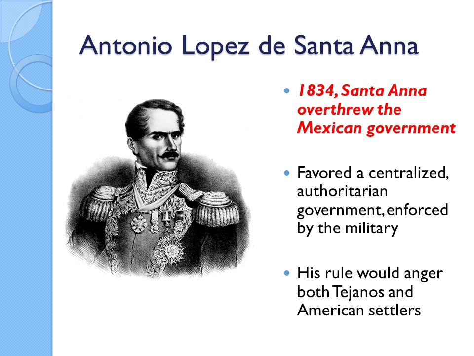 a biography of anotonio lopez de santa anna the napoleon of the west Biography & memoir  'chicle': a chewy story of the americas  that the story of chewing gum as we know it started when antonio lopez de santa anna.