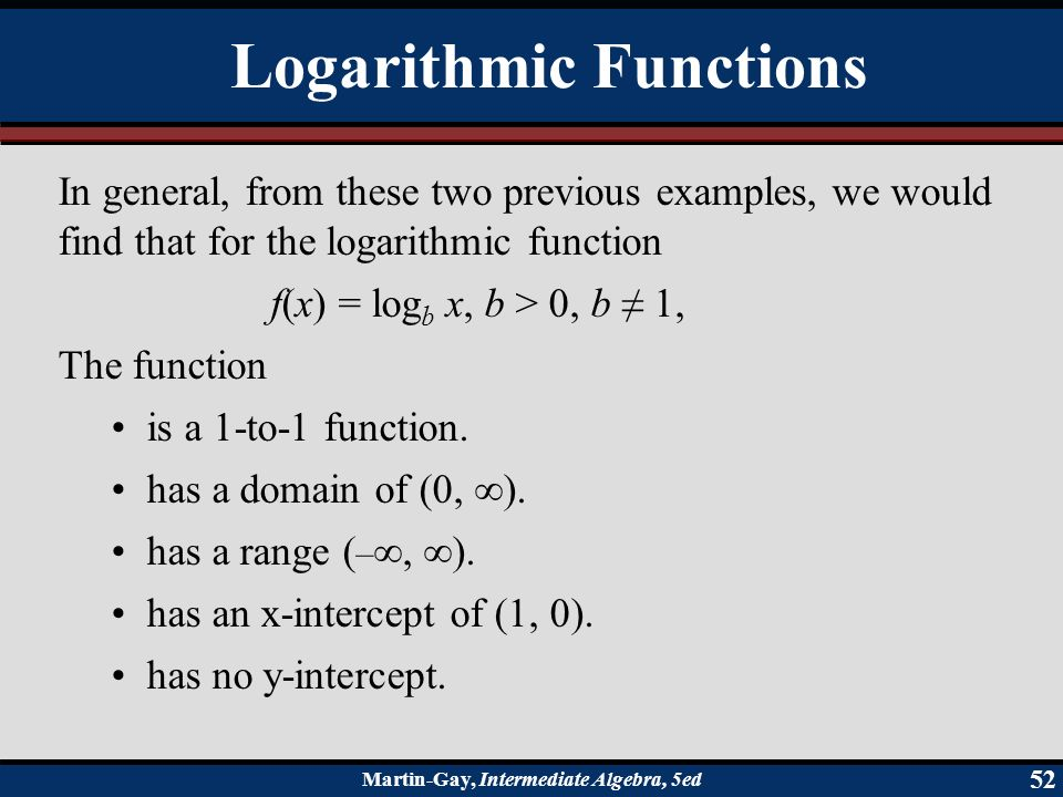Exponential and logarithmic functions ppt video online download logarithmic functions ccuart Image collections