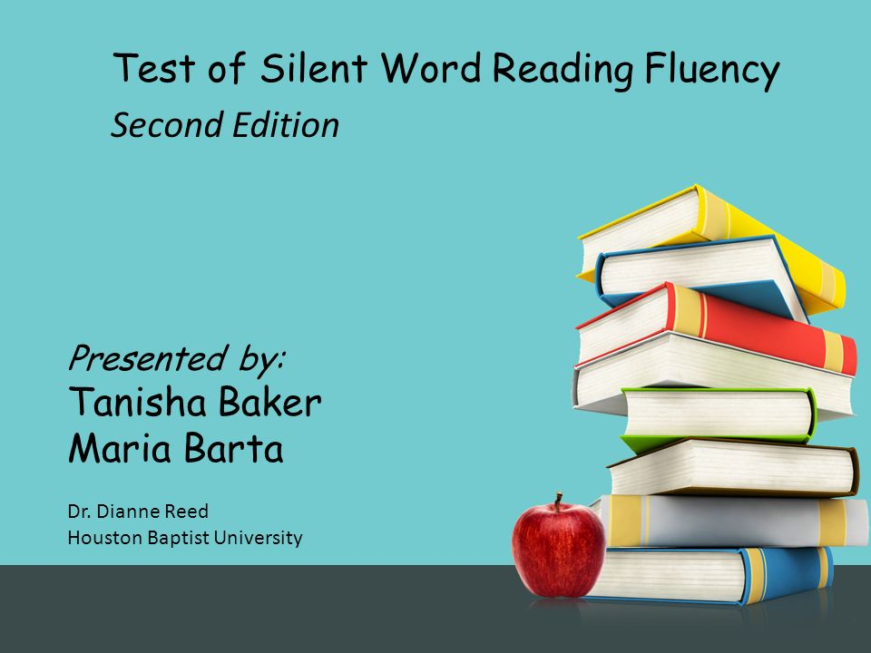 Test of Silent Word Reading Fluency Second Edition