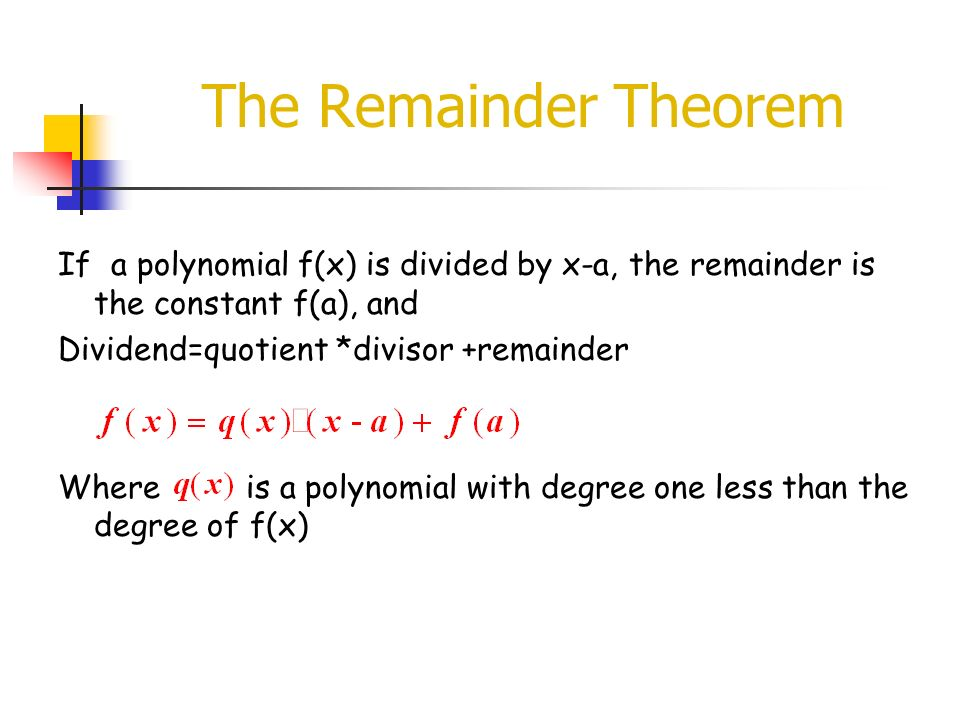 Roots Zeros of Polynomials I ppt download – The Remainder Theorem Worksheet