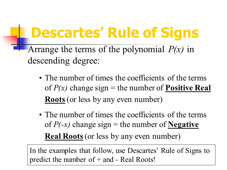 6  descartes rule of signs chart | math cover