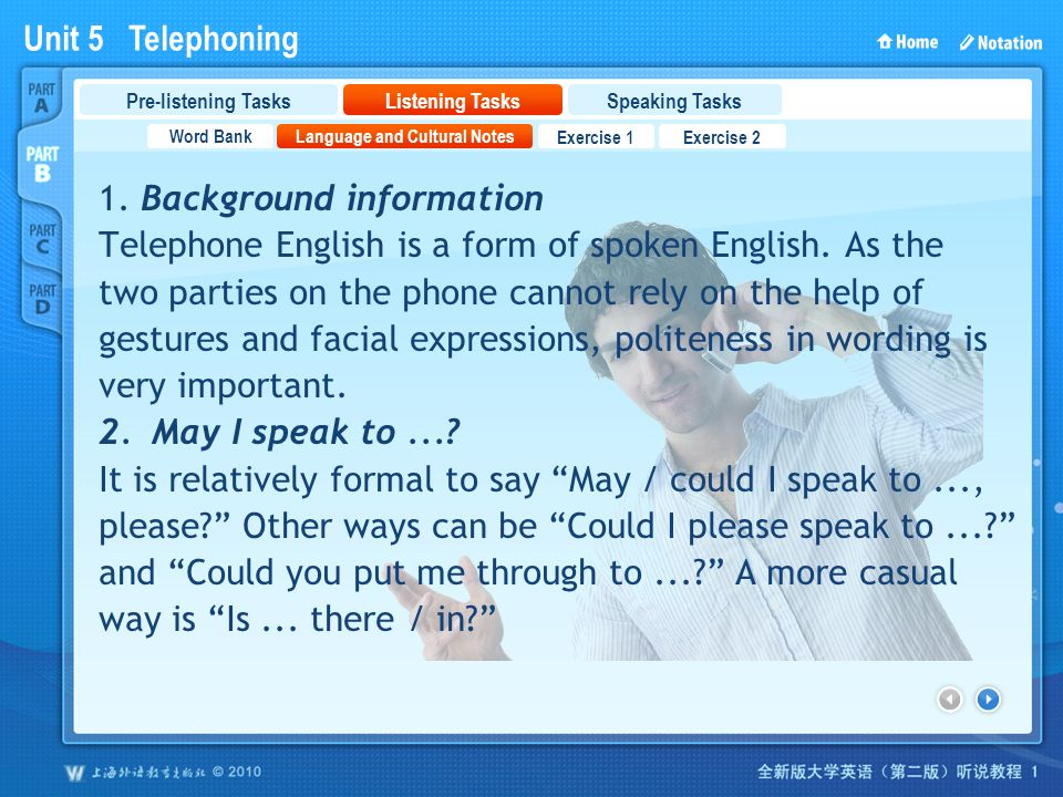 telephoning in english exercises