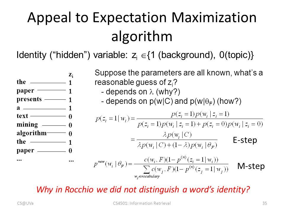 the expectation maximization algorithm 在统计计算中,最大期望(em,expectation–maximization)算法是在概率(probabilistic)模型中寻找参数最大似然估计的算法,其中.