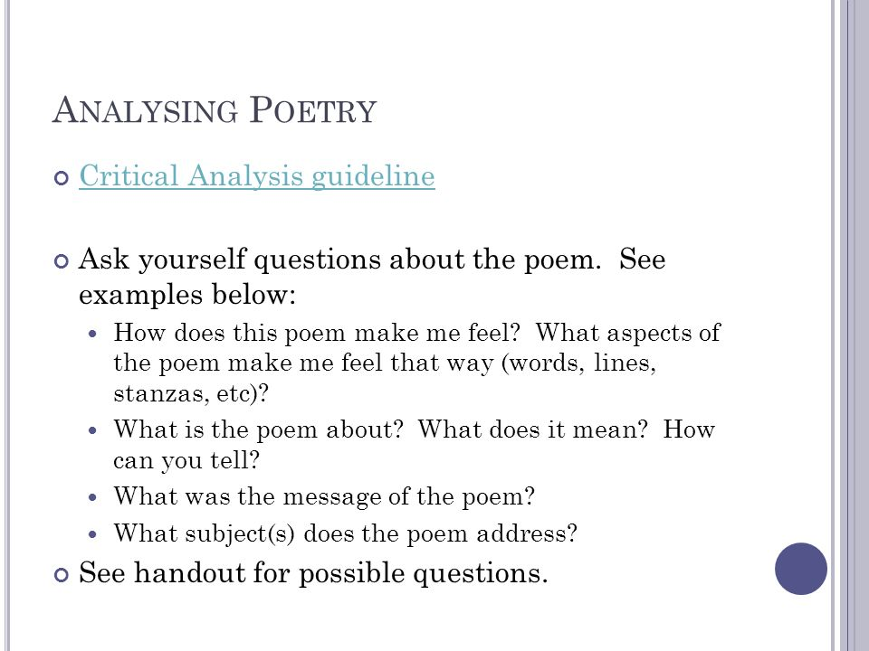 an analysis of the poem you You're analysis sylvia plath critical analysis of poem, review school overview analysis of the poem literary terms definition terms.