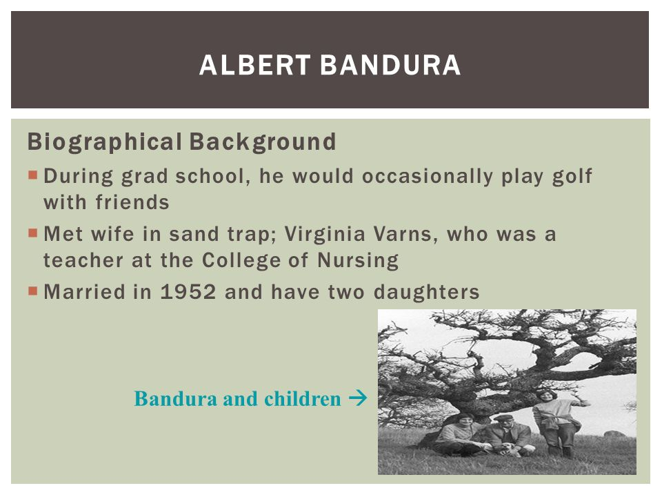 Albert Bandura biography, quotes, publications and books ...