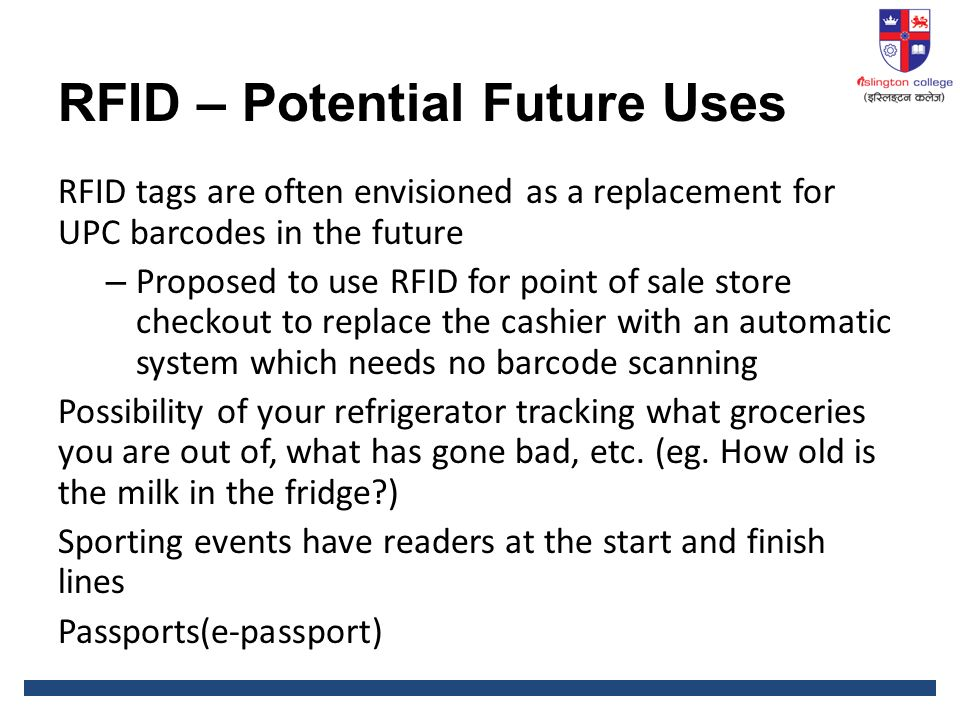 rfid a future potential technology essay Read rfid free essay and over 88,000 radio frequency identification sure it is safe from potential abuse background technology for the rfid chip has.