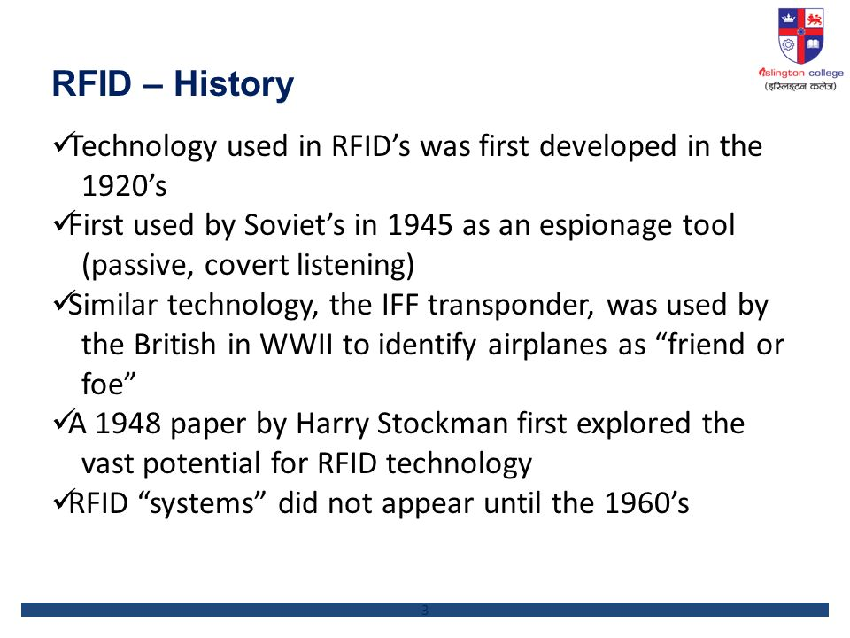 rfid technology history and future What is rfid - how does rfid work: rfid technology has been in use way since world war ii and there is a bright future ahead review the evolution of rfid.