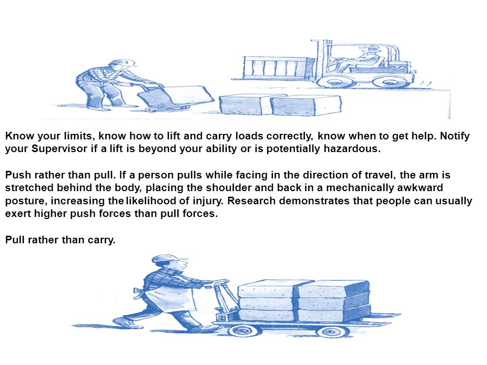 how to safely lift and carry loads