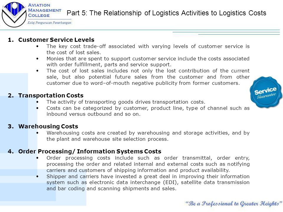 key logistics activities and technologies related Inbound logistics – these are all the processes related to  your supplier relationships are a key factor  outbound logistics – these activities deliver your .