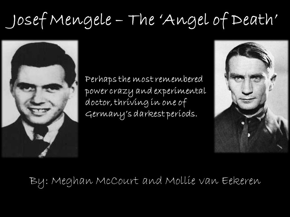 josef mengele the nazis angel of death Eva kor: surviving the angel of death: the true story of a mengele twin in auschwitz - duration: 1:08:49 talks at google 151,862 views.