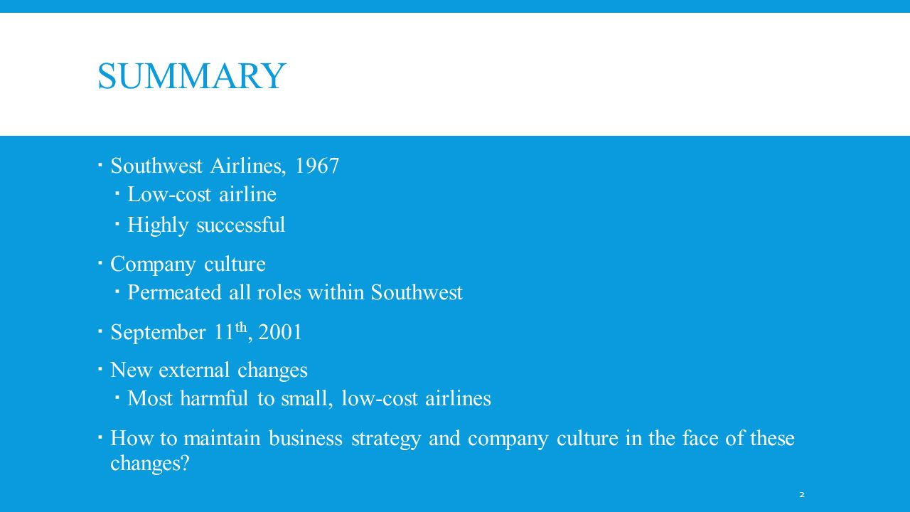 Southwest Airlines 2002: An Industry Under Siege Harvard Case Solution & Analysis