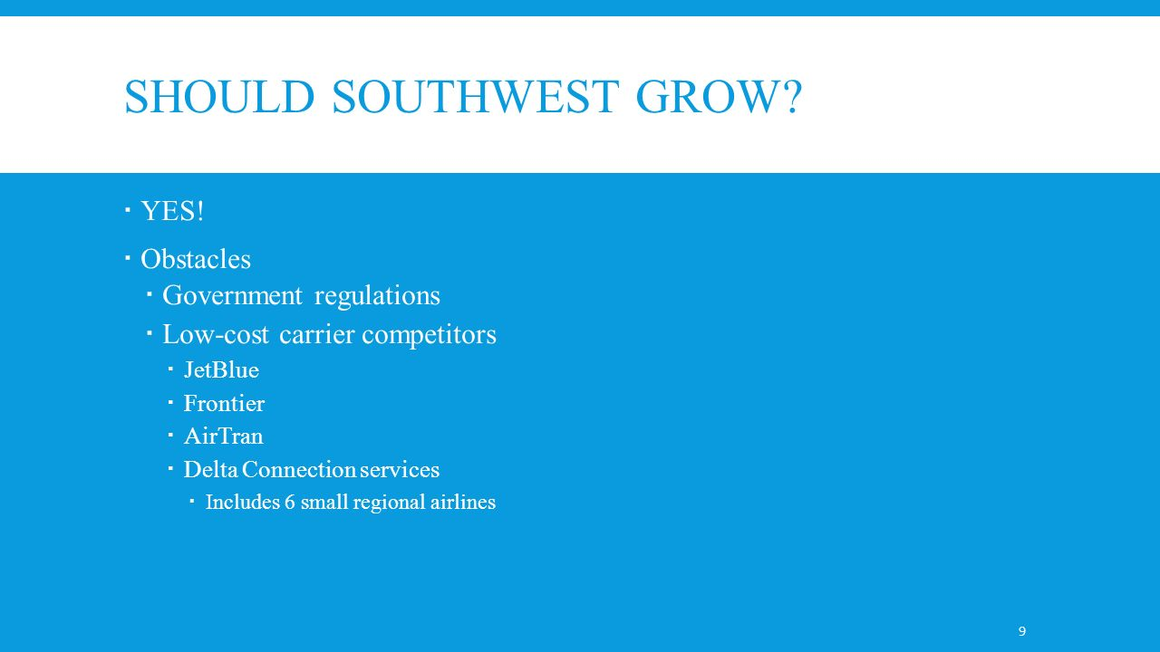 southwest an industry under siege Southwest airlines 2002: an industry under siege the company's management is faced with long-term questions regarding the rate and manner of growth in the wake of the 9/11 attacks and general industry malaise.