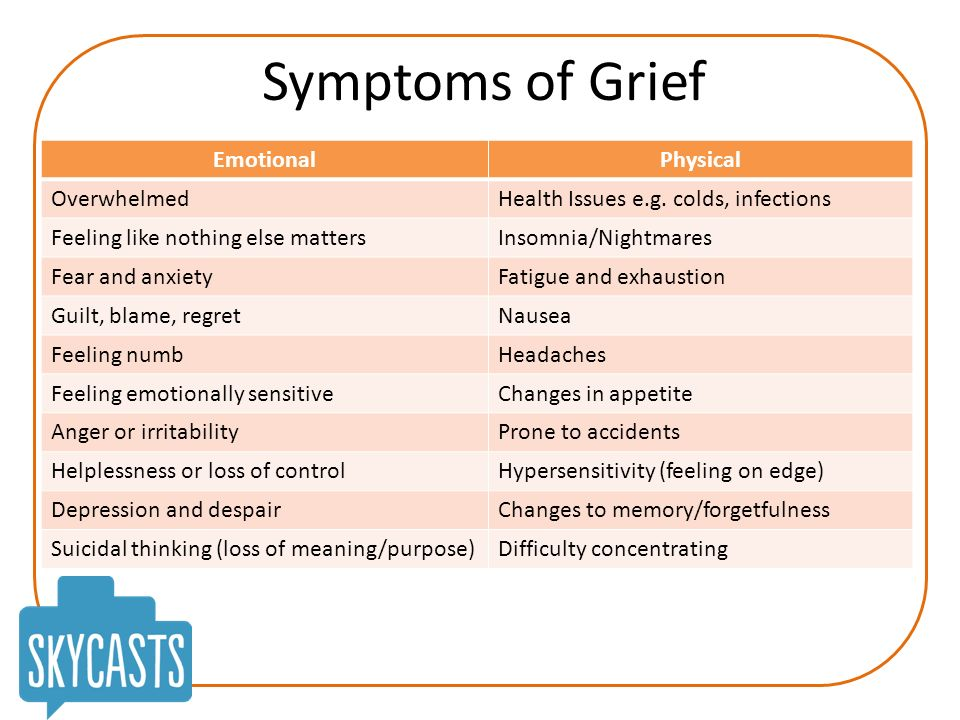 grief and relationship problems