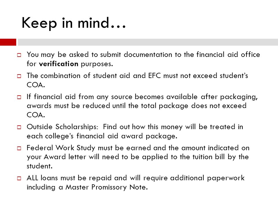 Financial aid presentation ppt download you may be asked to submit documentation to the financial aid office thecheapjerseys Images