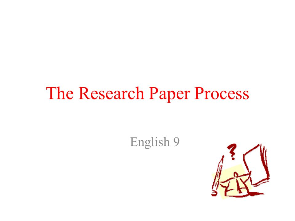 the research paper process The second method will be an evaluative paper  below are some books and websites that will help you dive deeper into the user-research process and methods as.