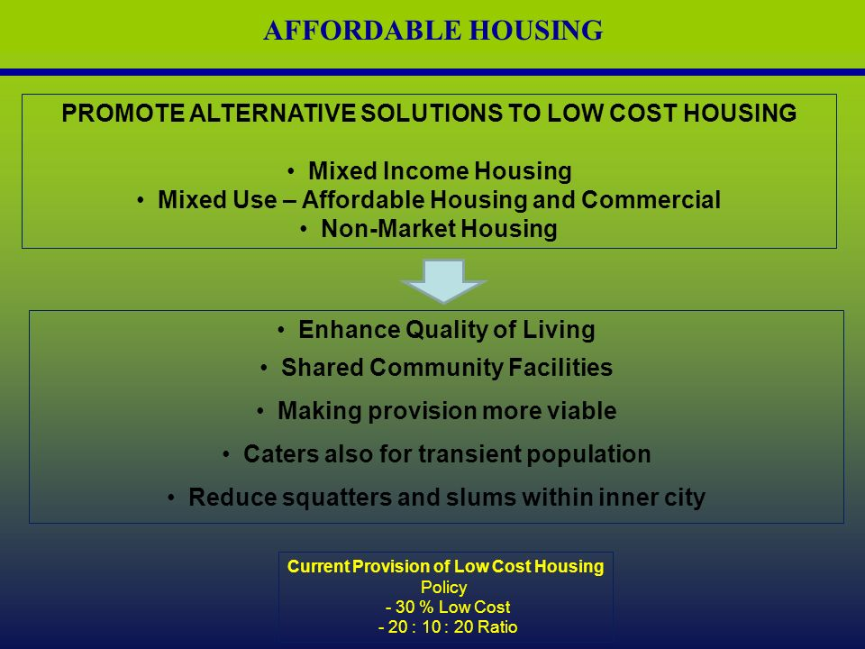 Development control and guidelines ppt download for Low cost housing solutions