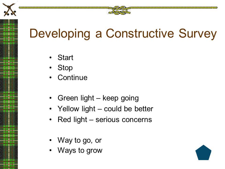 Developing a Constructive Survey