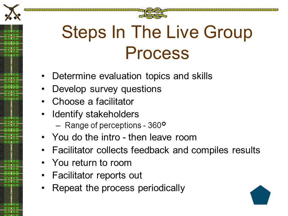 Steps In The Live Group Process