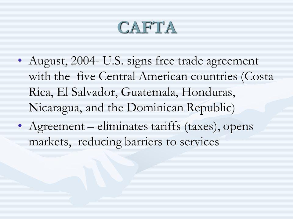 Dominican Republic Cafta Agreement Essay Research Paper Academic