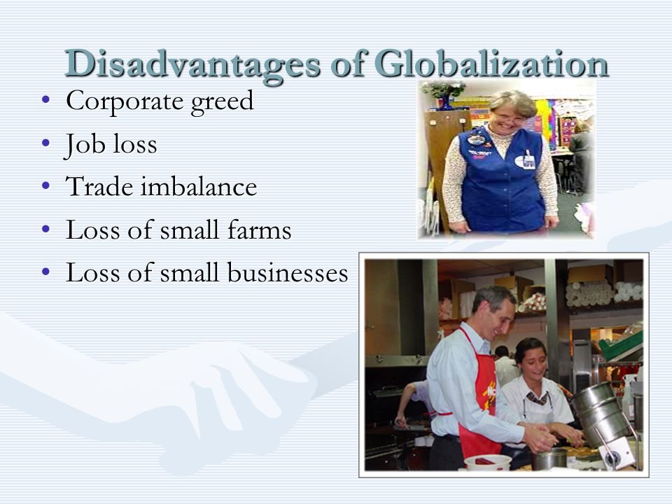 the disadvantages of globalisation