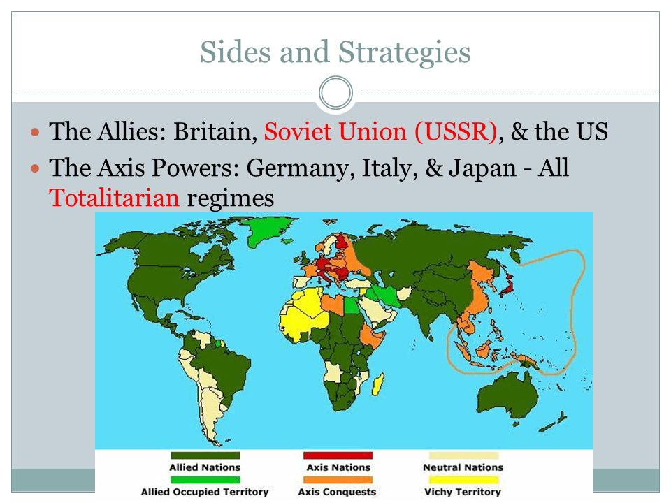 sides and strategies the allies britain soviet union ussr the