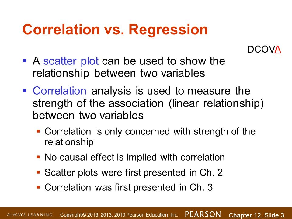 correlation regression To test an association between 2 quantitative variables , either computing  correlations or regression,thus at what case we should use regression and avoid .