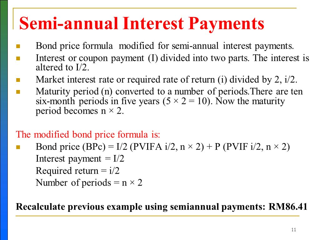Coupon rate of interest formula