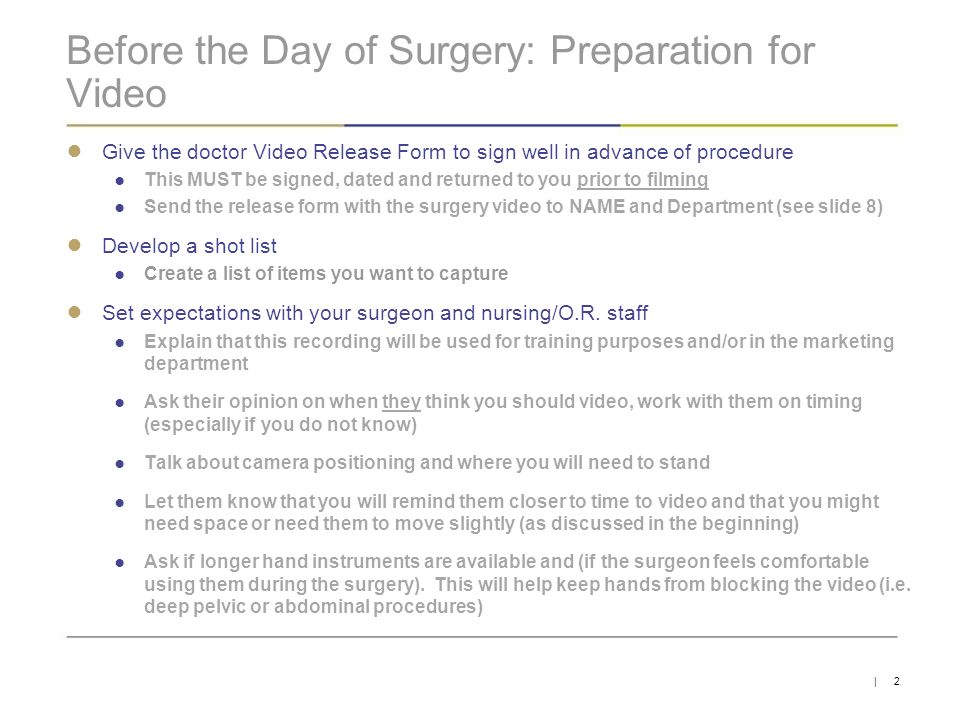 Filming Procedures By Danielle Doucot  Ppt Download