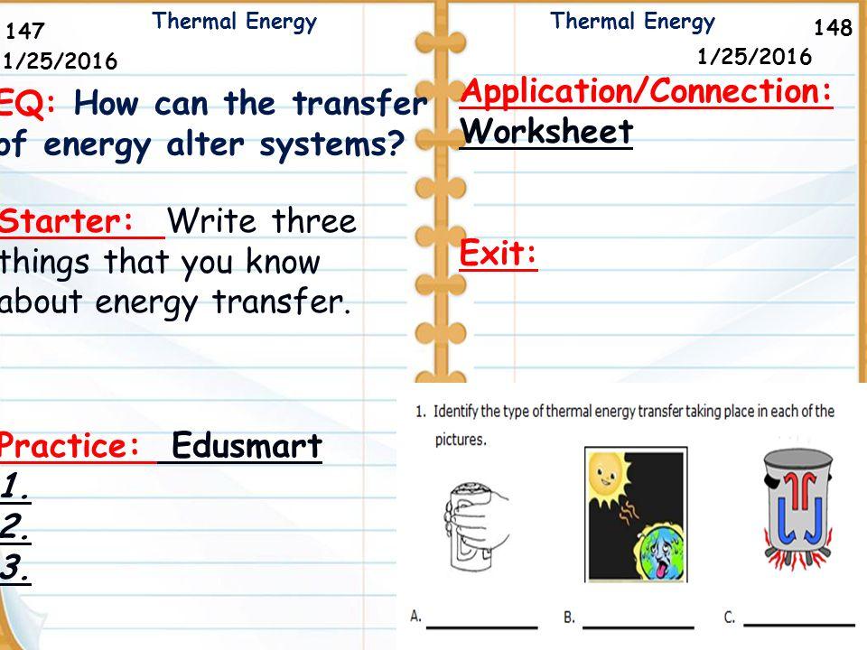 ApplicationConnection Worksheet ppt download – Energy Transfer Worksheet
