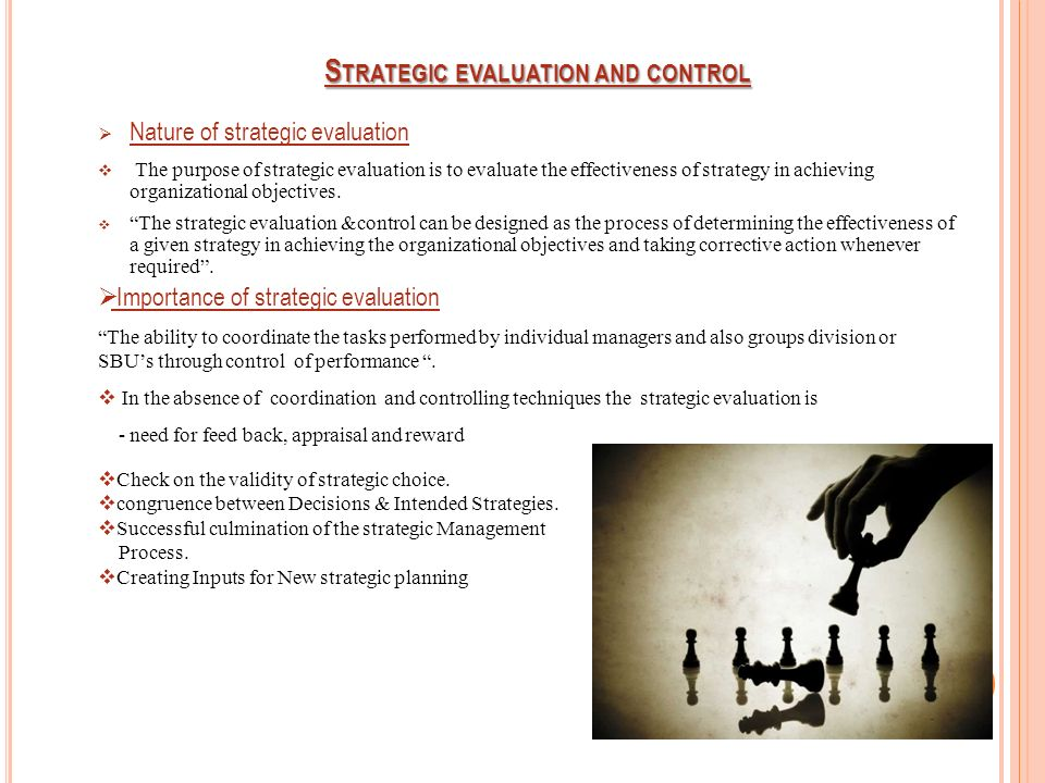 techniques of strategic evaluation and control in strategic management pdf