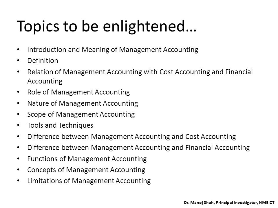 Introduction to Managet Accounting - ppt video online download