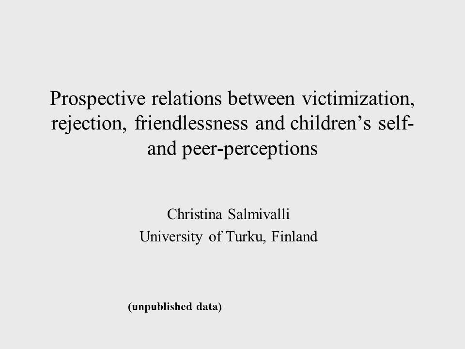 Christina Salmivalli University of Turku, Finland